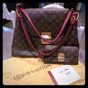 Louis Vuitton Olympe bag and wallet